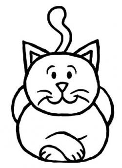 Cat clipart easy. How to draw a