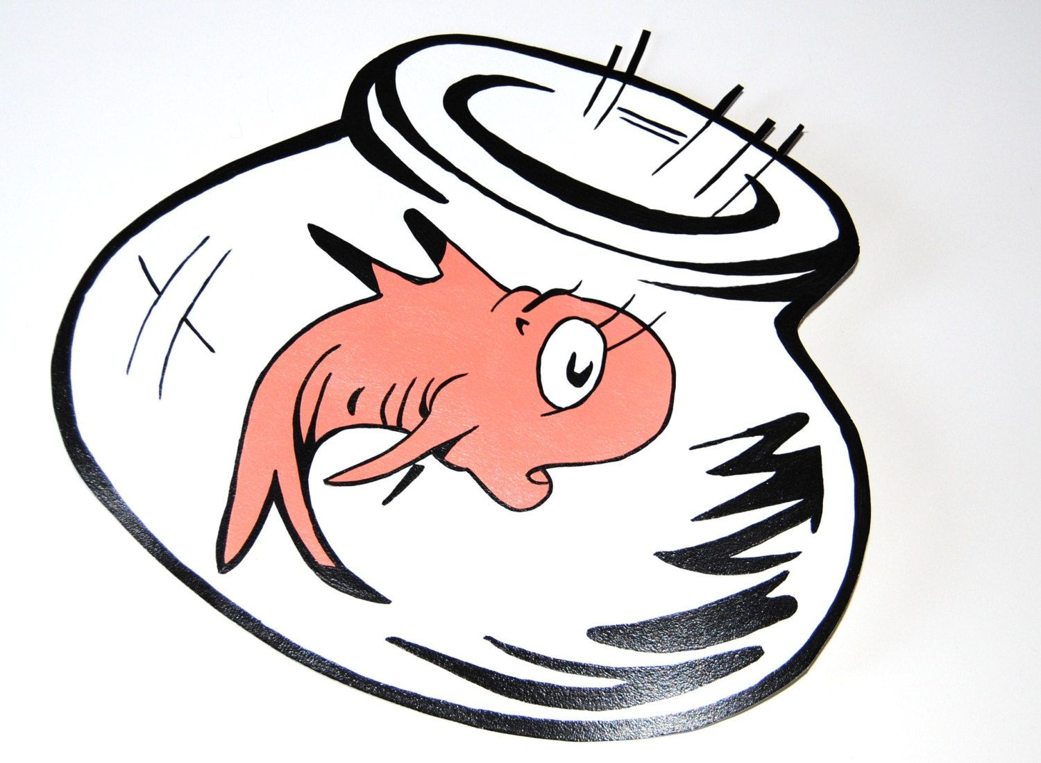 Cat in the hat. Fishbowl clipart one fish two fish