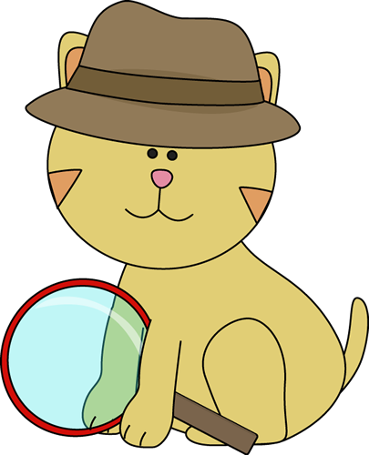 Detective clipart cat. Free in the hat