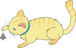 Free image or kitten. Hunting clipart cat