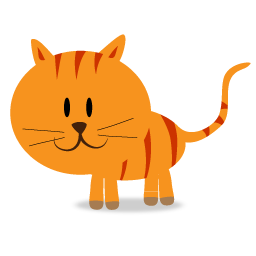 Cat clipart icon. Happy kitty png image