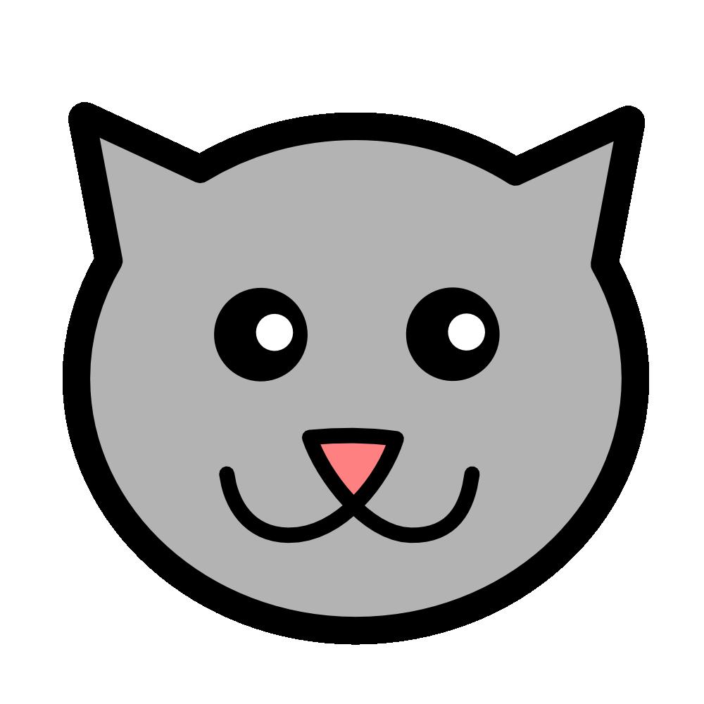 Cat clipart icon. Kitty clip art illustrations