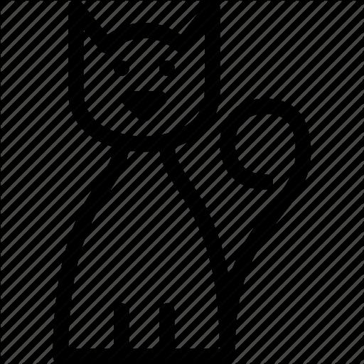 Halloween by norbert kucsera. Cat clipart icon