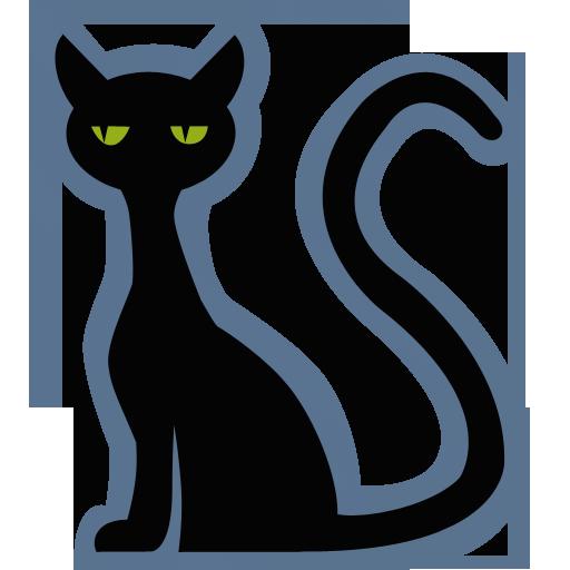 Halloween iconset iconcreme. Cat clipart icon