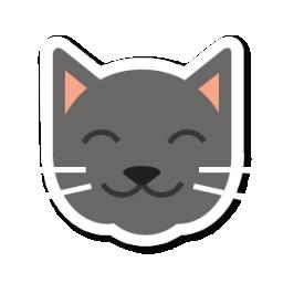 Swarm app sticker iconset. Cat clipart icon