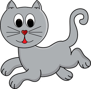 Cat clipart illustration. Free playful image of