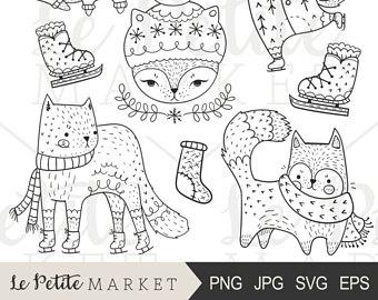 Unicorn caticorns clip art. Cat clipart illustration