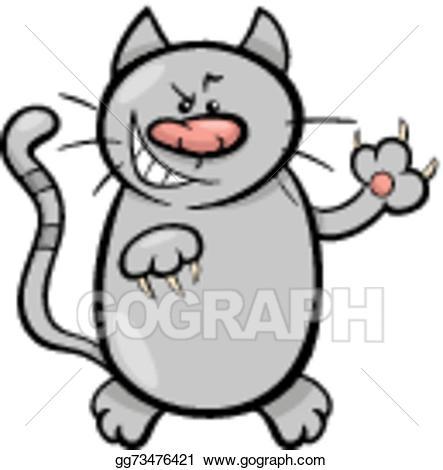 Cat clipart illustration. Vector stock claws cartoon