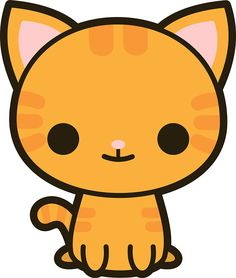 Cute spooky bat sticker. Cat clipart kawaii