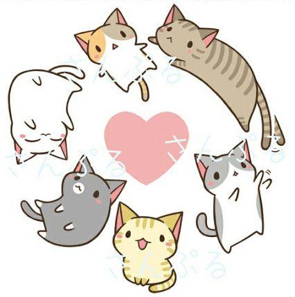 Neko google zoeken drawings. Cat clipart kawaii