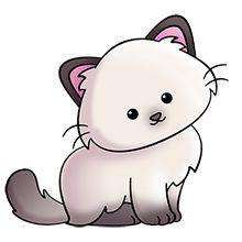 Cat clipart kawaii.  cute animals chat