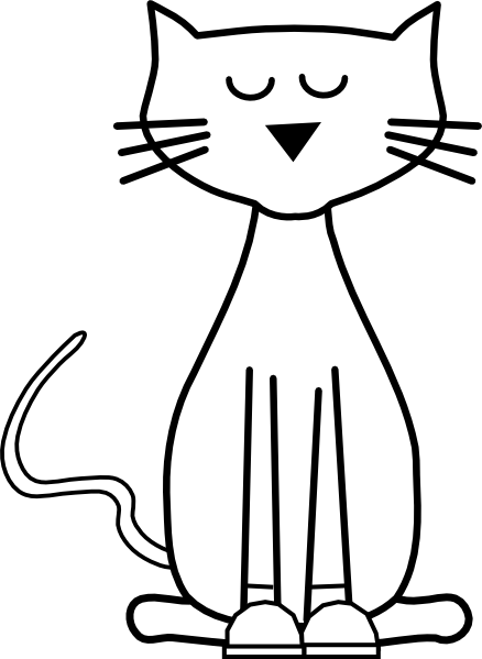 Cats clipart outline. Cat cliparts free download