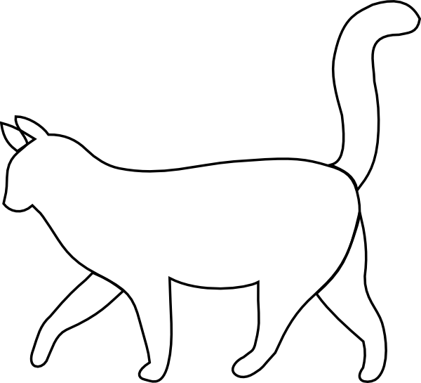 Silhouette outline at getdrawings. Clipart cat black and white