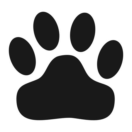 Free download clip art. Cat clipart paw print