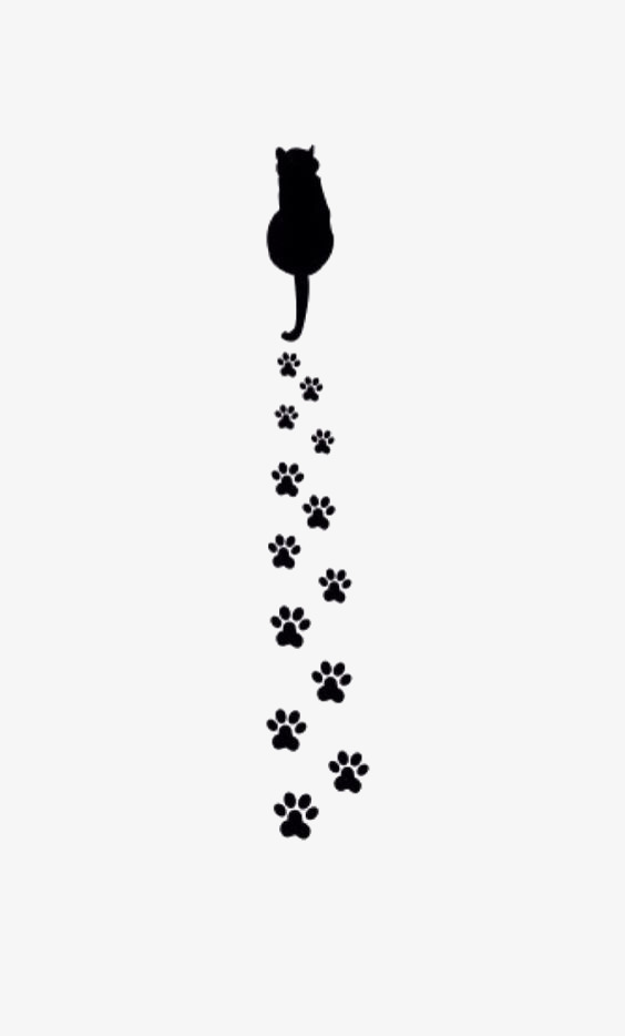 Prints claw black png. Cat clipart paw print
