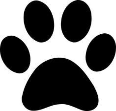 Prints clip art vector. Cat clipart paw print
