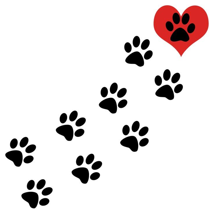Kitty clip art love. Cat clipart paw print