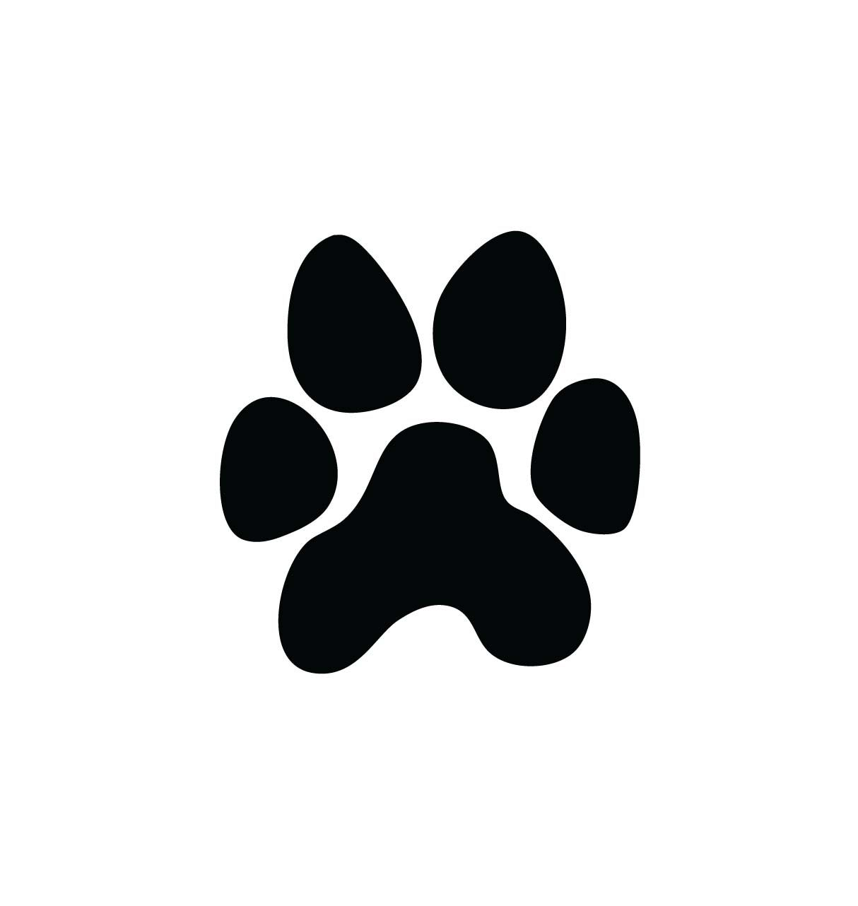 Dog paw gallery for. Pawprint clipart cat