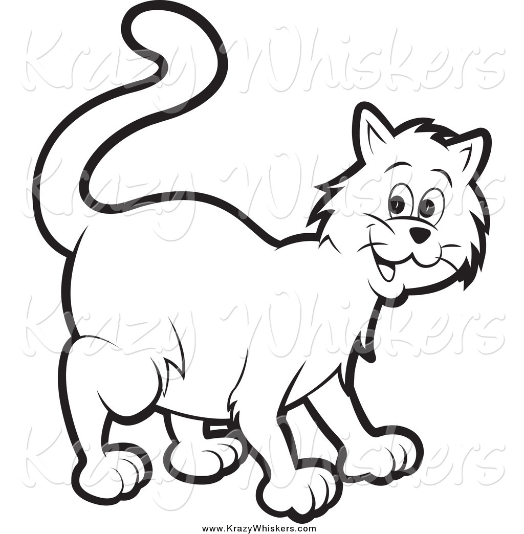 Royalty free stock animal. Cat clipart printable