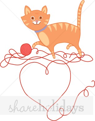 Cat clipart printable. Valentine kitten party backgrounds