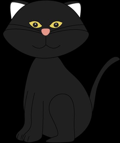 Cat clipart printable. Black silhouette at getdrawings