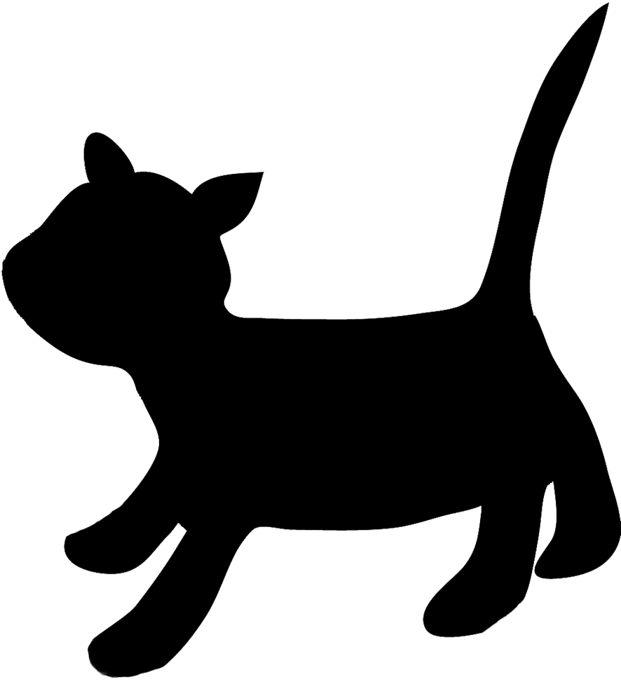 kitten clipart silhouette