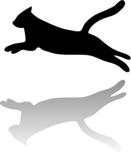Cats clipart run. Running cat silhouette at