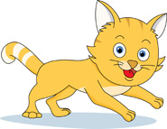 collection of running. Clipart cat run