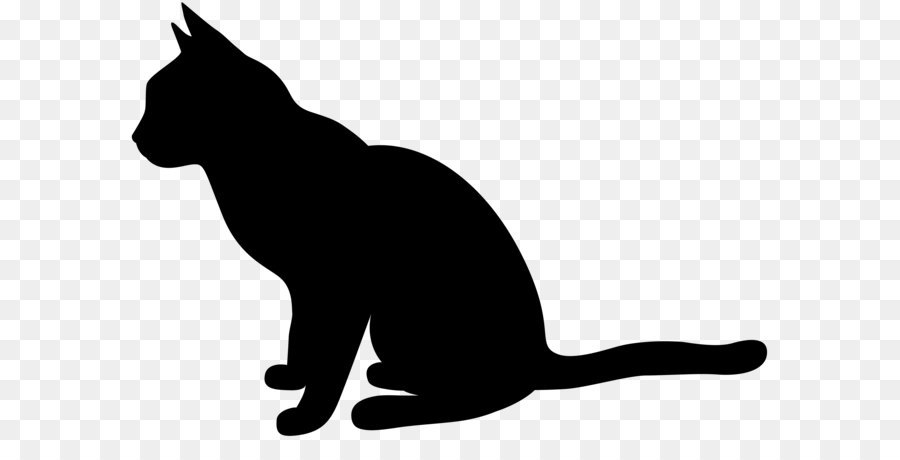 Cats clipart silhouette. Running cat at getdrawings
