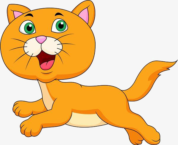 Clipart cat run. Cartoon running s png