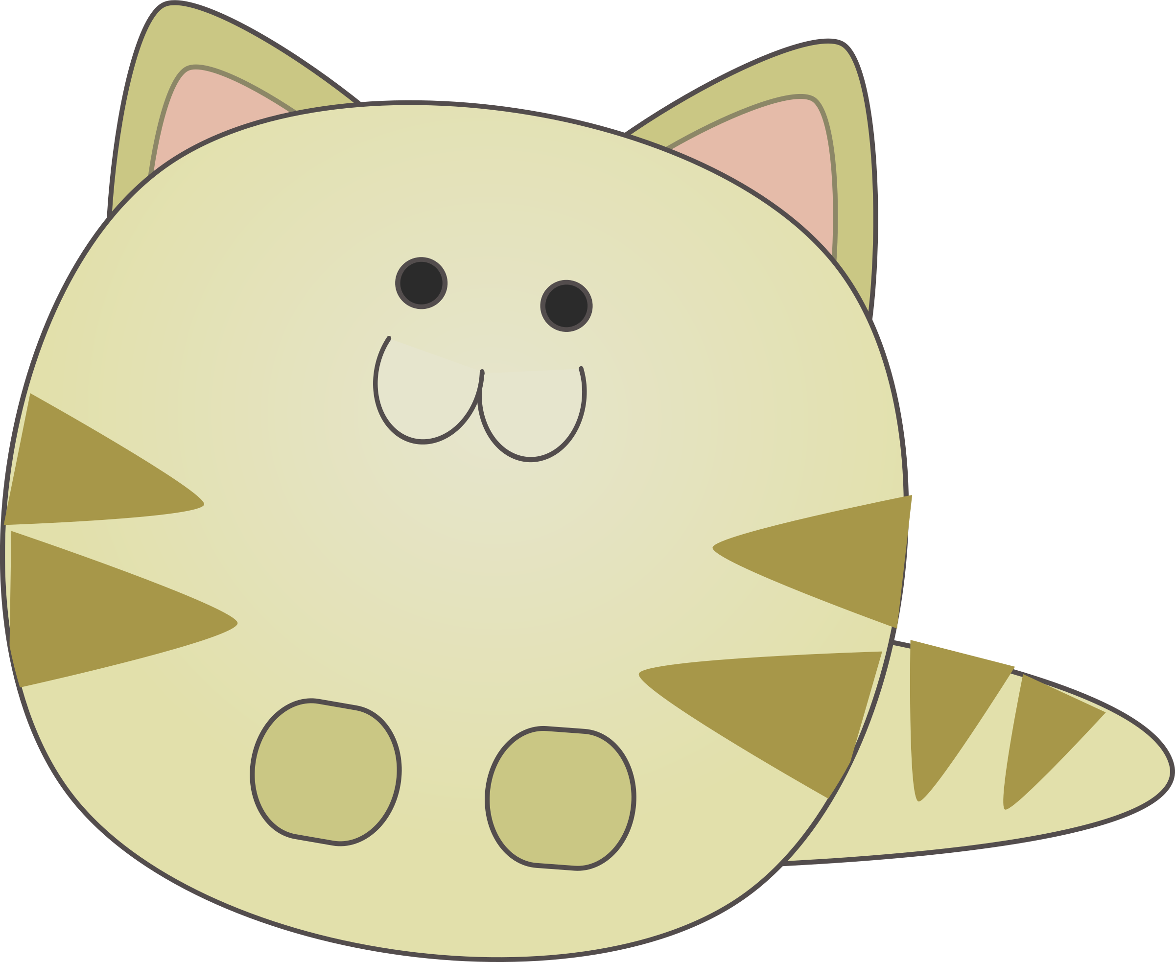 Little by anarres designs. Cat clipart shape