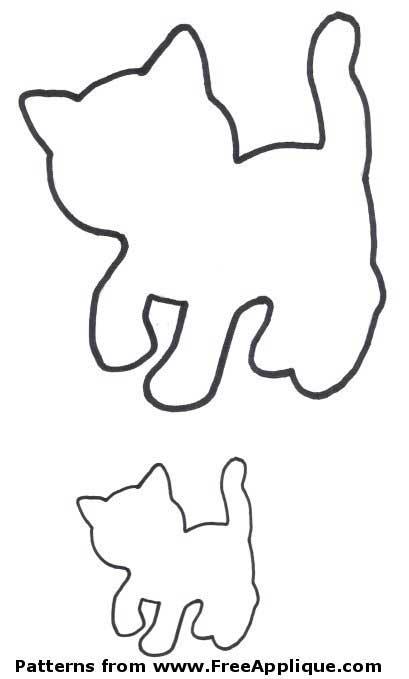 patterns free applique. Cat clipart shape