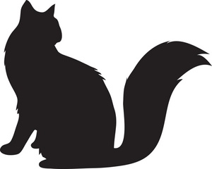 Cats clipart silhouette. Image dog and cat