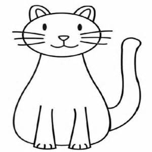 Drawing of a cat. Cats clipart simple