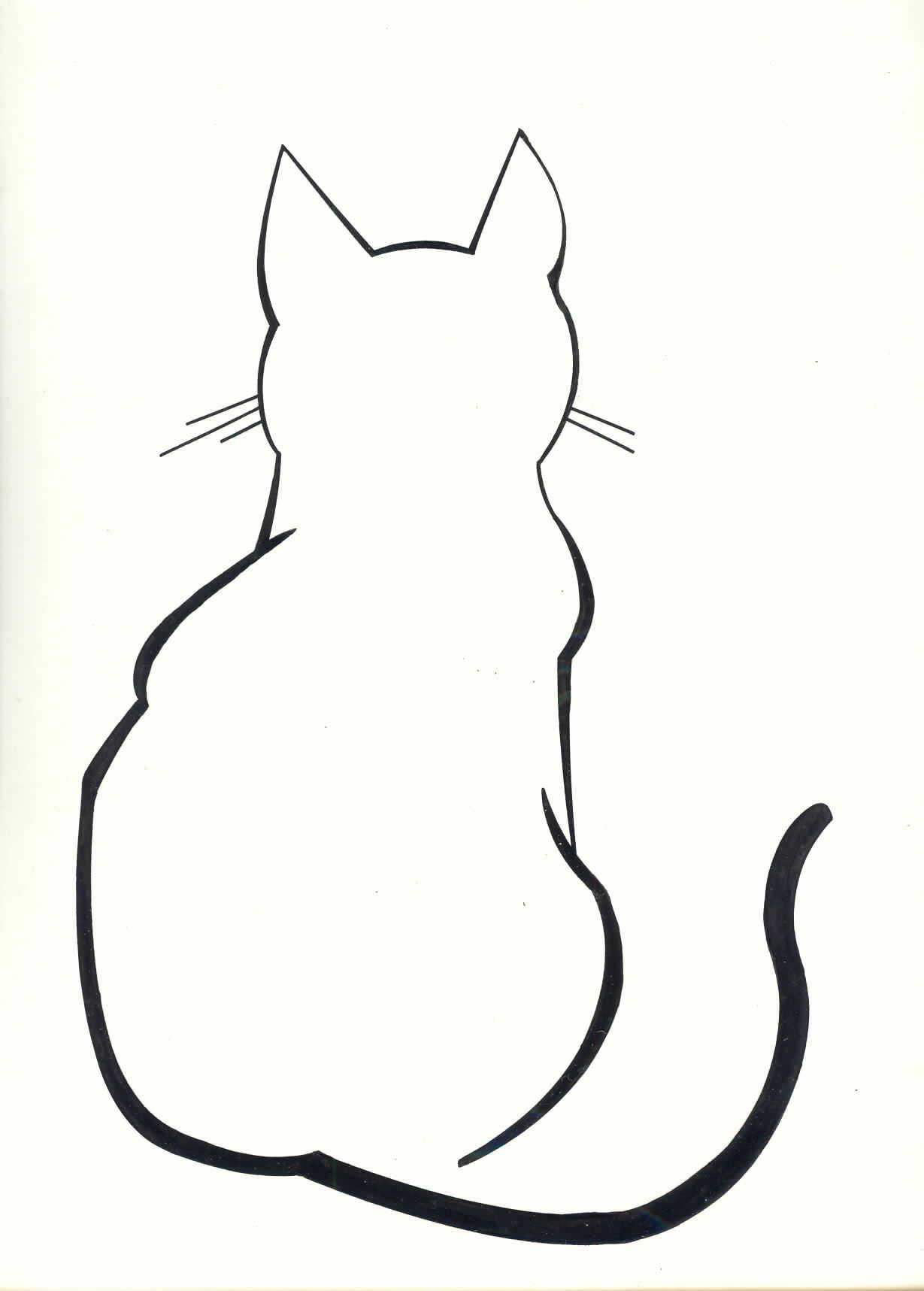 Diy silhouette pillow cases. Cat clipart simple