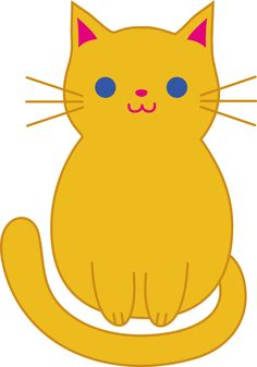 Easy . Cat clipart simple