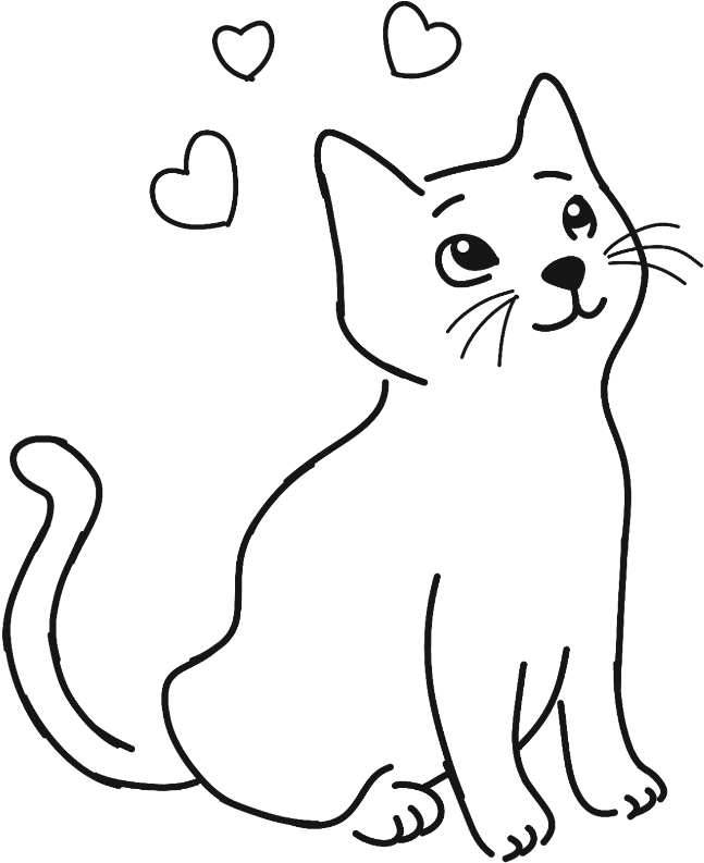 Hd pet animal cute. Cat clipart simple