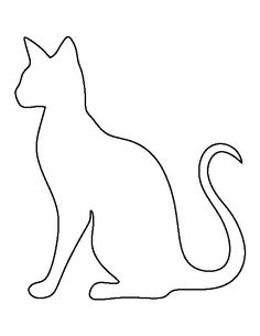 Siamese pattern doodle templates. Cat clipart stencil