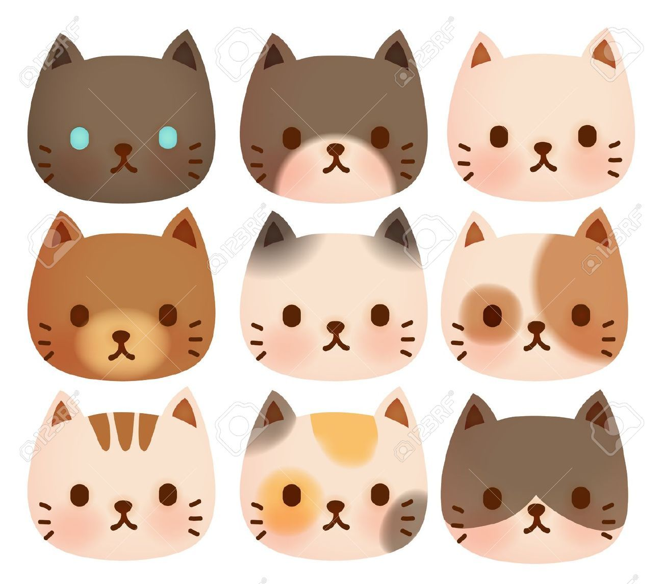 Face stock vector illustration. Cat clipart supply