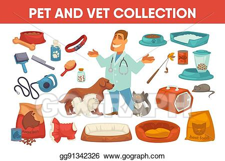 Eps vector dog pet. Cat clipart supply