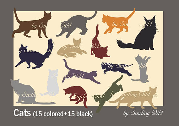 Cat clipart supply. Silhouette svg animal clip