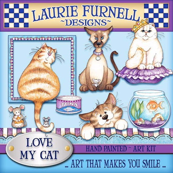 Cat clipart supply. Laurie furnell cute art