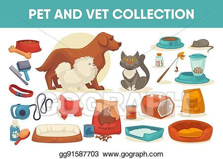 Pet clipart stuff. Eps vector dog cat
