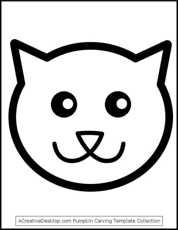 Cat clipart template. Pumpkin stencil free templates