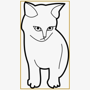 Cat clipart template. Printable outline