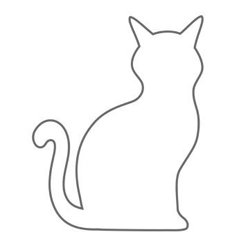 Cat clipart template. Stencil for pillows pinteres