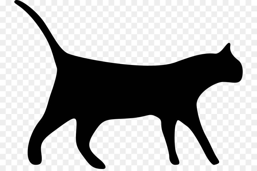 Cat clipart translucent. Black line background kitten