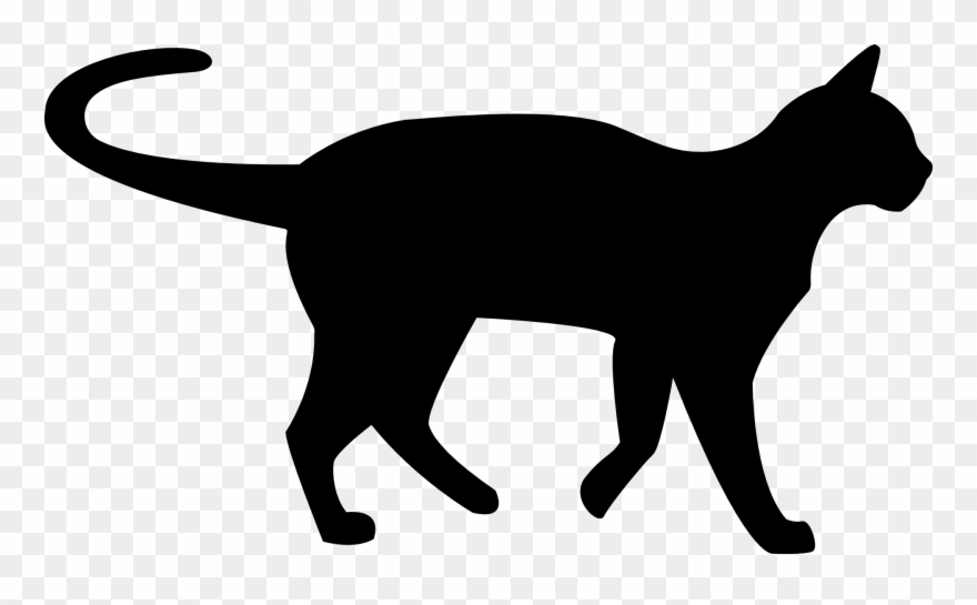 Clip art black and. Cats clipart clear background