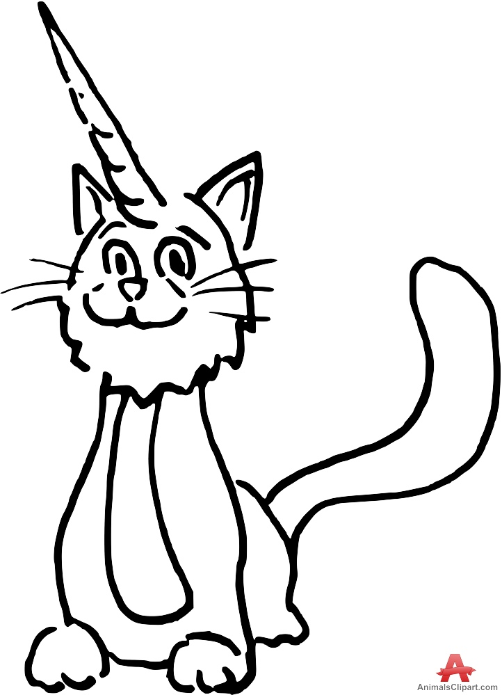 Cat with free design. Cats clipart unicorn