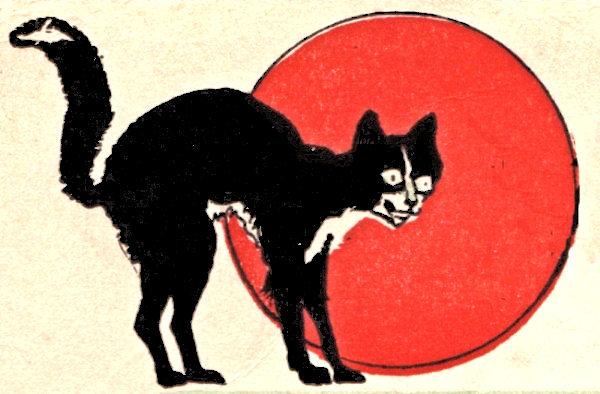Halloween clip art black. Cat clipart vintage